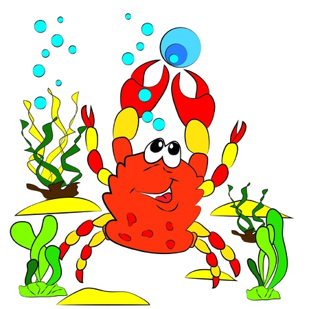 color page crawfish crab Stock Vector - 15191195