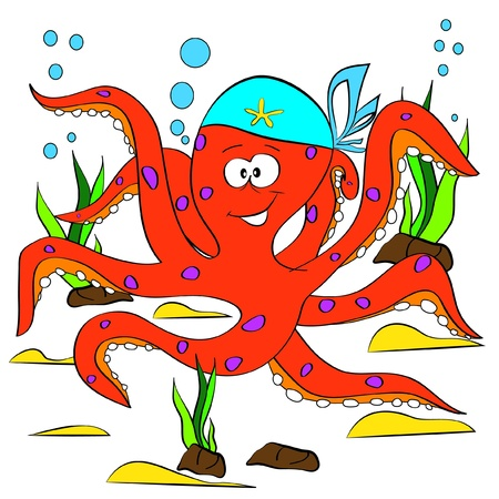 color page octopus Stock Vector - 15191194
