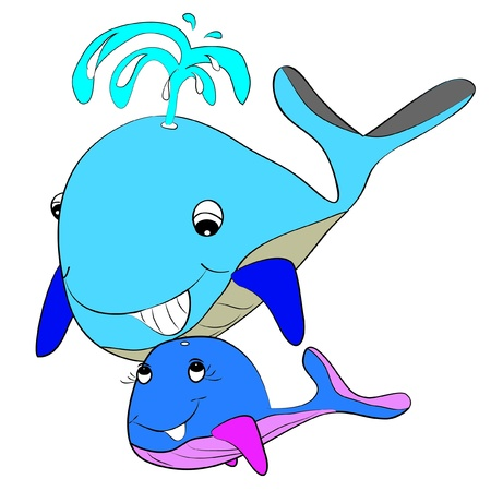 whale baby: color page whale Illustration
