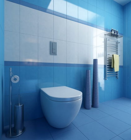 bathroom wc interior scene 3D photo