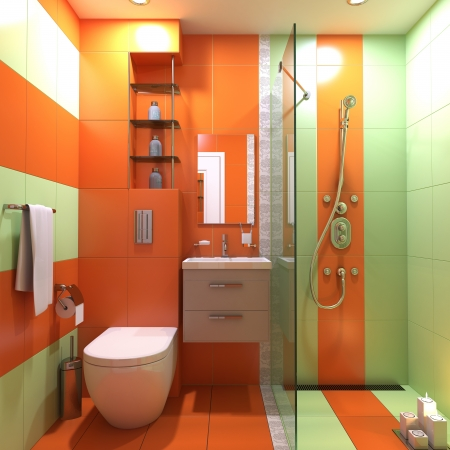 bathroom 3d wc interior scene