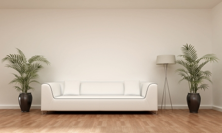 modern sofa: interior scene sofa Stock Photo