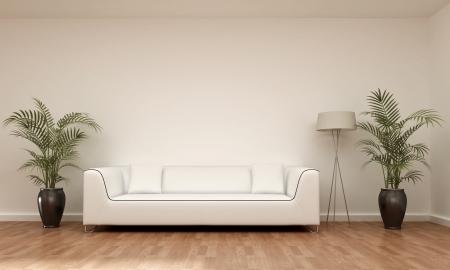 3d interior picture: interior scene sofa Stock Photo