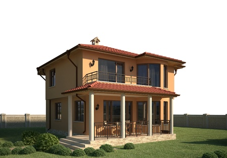 house render: 3d house without background