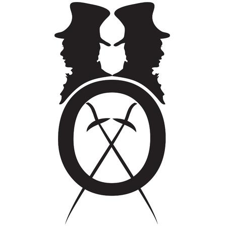 logo gentleman with rapier