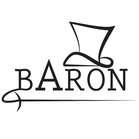 baron vector logo with dress-coat and rapires Illustration