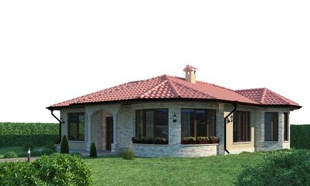 villa: house exterior 3d