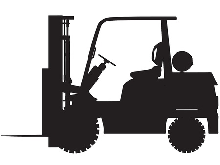 gas forklift trucks elevations Vector