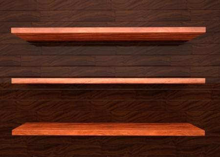 wood shelf: ilustraci�n madera estante