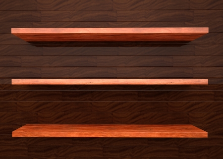 wood shelf illustration Stock Illustration - 16170823