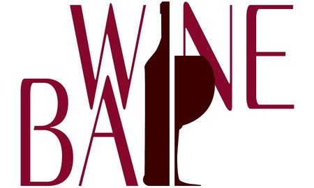 map wine: logo wine bar vector