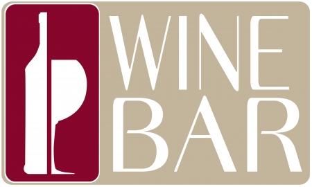 wine bar: logo wine bar vector