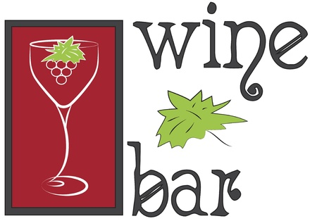 wine logo wineglass Vector