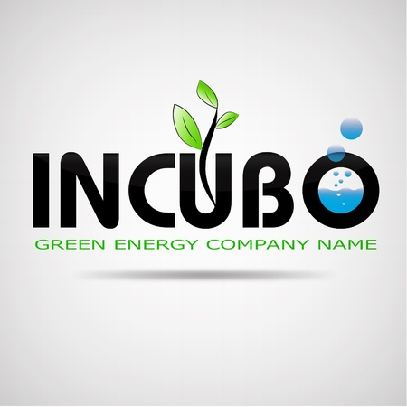logo incubo green energy Vector