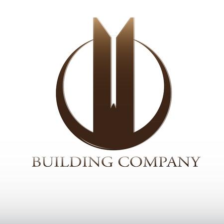 logo batiment: logo de l'entreprise de construction