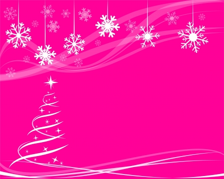 christmas tree for greeting card Vector