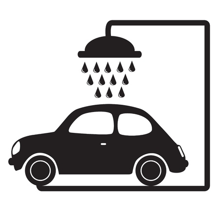 car wash vector illustration Ilustração