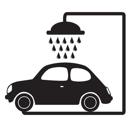 autolavaggio: lavaggio auto illustrazione vettoriale