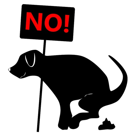 excrement: no dog dung sign Illustration