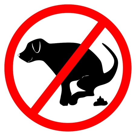 no dog dung board Vector
