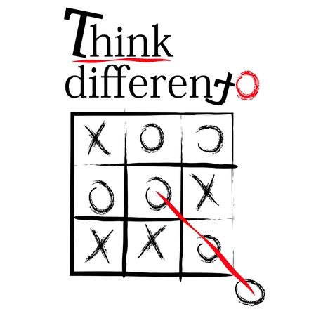 slogan: pensar diferente t-shirt eslogan diseño