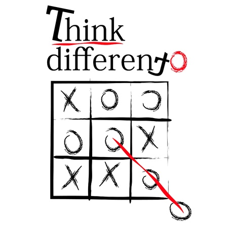 think different: think different t-shirt design slogan Illustration