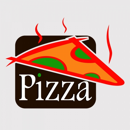 pizza logo design vector Vector
