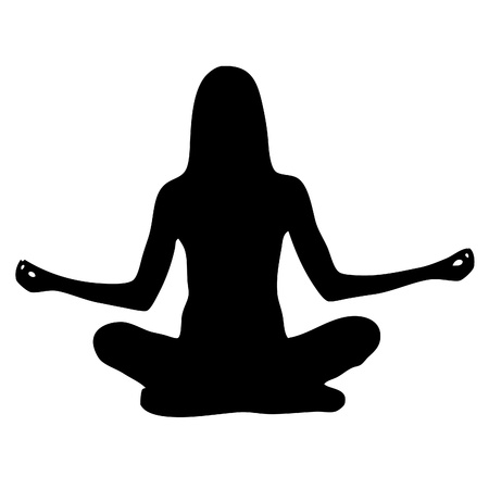 nirvana: yoga vector illustration silhouette Illustration