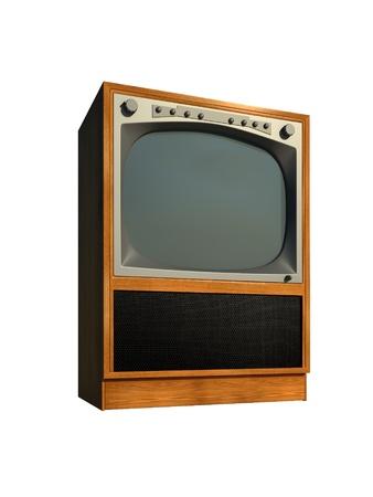 old tv: tv set old retro model Stock Photo