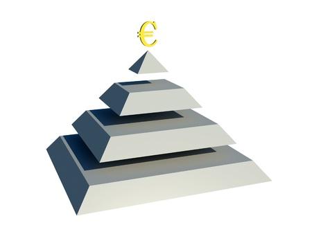 pyramid peak: pyramid euro Stock Photo