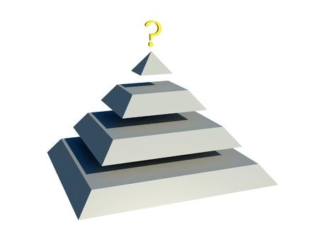 pyramid peak: pyramid question Stock Photo