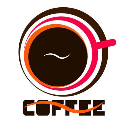 cup of coffee logo design