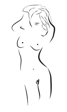 erotische Frau Körper