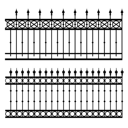 iron fence: iron fence vector illustration Illustration