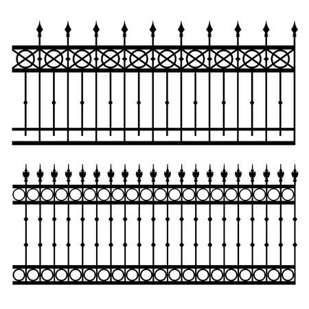 portones: valla de hierro ilustraci�n vectorial