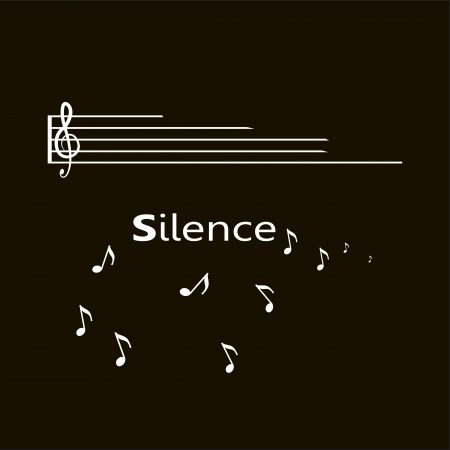 sonata: silence text with notes