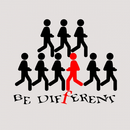 be different: be different illustration