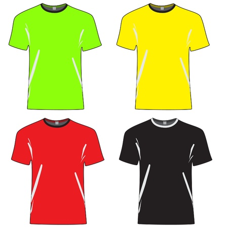 cloth back: t-shirt vector outlines