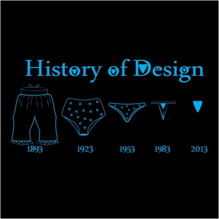 comically: string and bloomers for t-shirt funny design