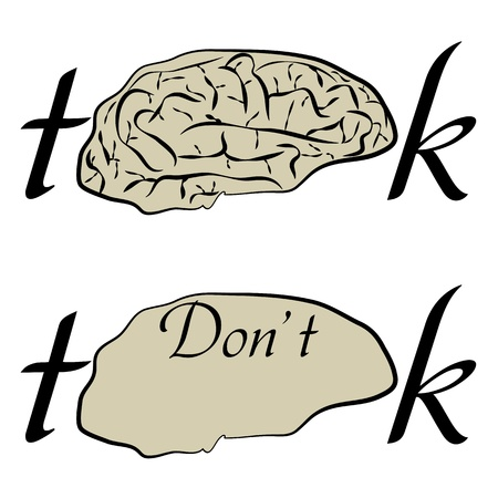 don't: think and don t think t-shirt design
