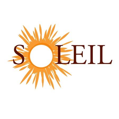 Soleil Vektor-Logo Standard-Bild - 21465926