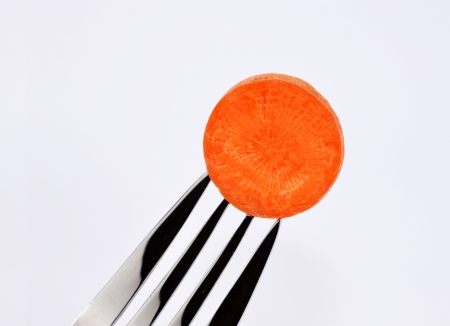 fork with carrot photo
