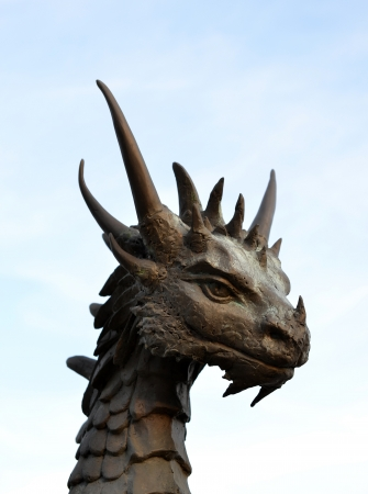 dragon head: Dragon statue Stock Photo