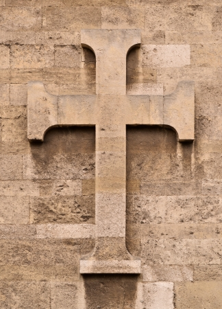 Stone cross photo