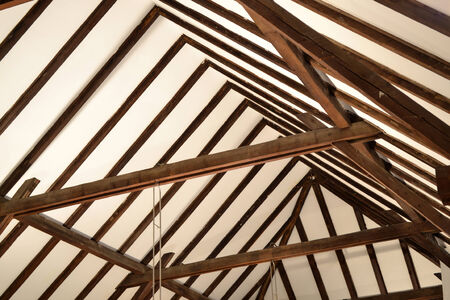 roof beam: Wood roof construction