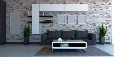 Innenszene Wohnzimmer Standard-Bild - 26008682