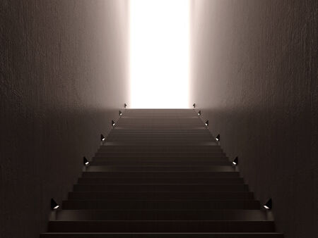 Stairs with light photo