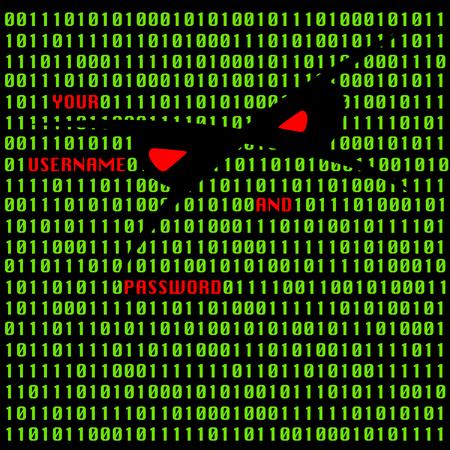 Hacker attack vector illustration Vector