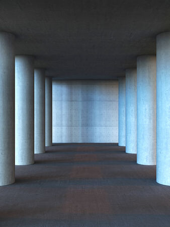 Columns from concrete photo