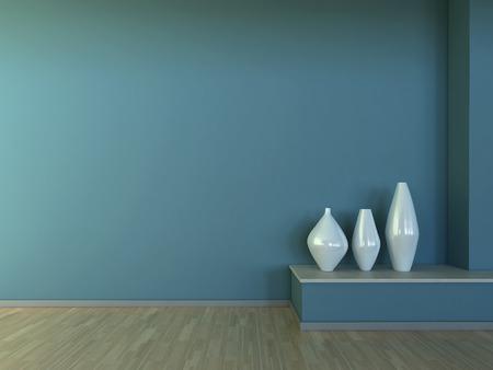 Interior scene with vase